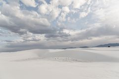 Landschap bij Wit Zand Nationaal Monument in Alamogordo, New Mexico Royalty-vrije Stock Foto