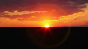 Landschap bij Zonsondergang stock videobeelden
