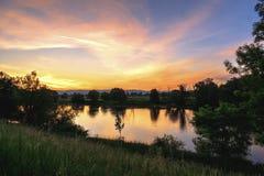 Landschap bij zonsopgang Royalty-vrije Stock Foto