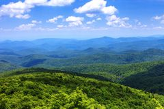 Landschap Blauw Ridge Mountains Western NC stock afbeeldingen