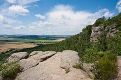 Landschap in Boheems paradijs, Tsjechische republiek royalty-vrije stock foto's