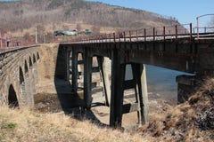 Landschap, brug Stock Foto's