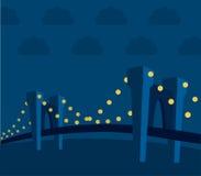 Landschap-brug (vector) royalty-vrije illustratie