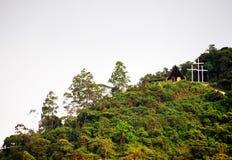 Landschap in Buenavista, Quindio bij zonsondergang royalty-vrije stock afbeeldingen