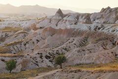 Landschap in Cappadocia, Turkije stock foto