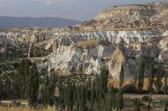 Landschap in Cappadocia, Turkije stock afbeelding