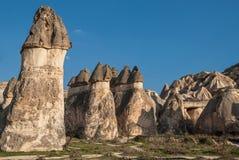 Landschap in Cappadocia, Turkije Stock Afbeeldingen