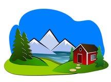 Landschap Clipart Royalty-vrije Stock Fotografie