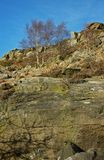 Landschap, Curbar-Rand, Piekdistrict, Derbyshire stock fotografie