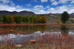 Landschap in Dao cheng Stock Afbeeldingen
