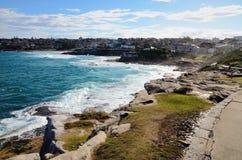 Landschap dat van kust wordt gekeken Royalty-vrije Stock Fotografie