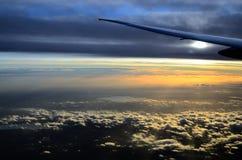 Landschap dat van vliegtuig wordt gekeken Stock Afbeeldingen