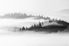 landschap in de bergen, de reis van Europa, schoonheidswereld Stock Afbeeldingen