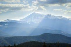 Landschap in de Karpatische Bergen Royalty-vrije Stock Foto's