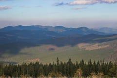 Landschap in de Karpatische Bergen Stock Fotografie