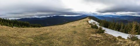 Landschap in de Karpatische Bergen Stock Foto
