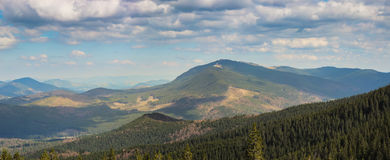Landschap in de Karpatische Bergen Stock Afbeeldingen