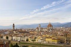 Landschap de Kathedraal Santa Maria van Florence, Italië Royalty-vrije Stock Afbeeldingen
