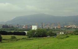 Landschap in de rand van de stad van Santander Royalty-vrije Stock Foto's