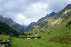 Landschap in de Stubai-Vallei Stock Foto's