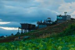 Landschap de toevlucht & x22; mon ing dao& x22; Chiang Mai-het gebied is de rand in het District van Hmong-dorp Royalty-vrije Stock Foto's