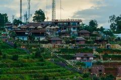 Landschap de toevlucht & x22; mon ing dao& x22; Chiang Mai-het gebied is de rand in het District van Hmong-dorp Stock Foto's