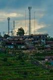 Landschap de toevlucht & x22; mon ing dao& x22; Chiang Mai-het gebied is de rand in het District van Hmong-dorp Royalty-vrije Stock Fotografie