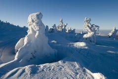 Landschap - de winterbergen royalty-vrije stock afbeeldingen