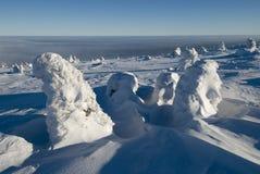 Landschap - de winterbergen royalty-vrije stock afbeelding