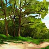 Landschap in de zomer Royalty-vrije Stock Afbeelding