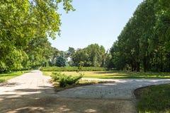 Landschap, Dendrological-Park van de Nationale Reserve askania-Nova, de Oekraïne Royalty-vrije Stock Afbeelding