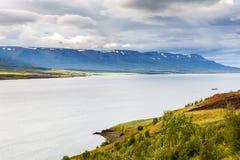Landschap dichtbij Akureyri, Noord-IJsland Royalty-vrije Stock Fotografie