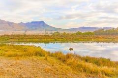 Landschap dichtbij de matrijs Berg van Dorp op in Zuid-Afrika Royalty-vrije Stock Afbeeldingen