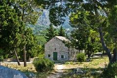 Landschap dichtbij door Makarska Royalty-vrije Stock Afbeelding