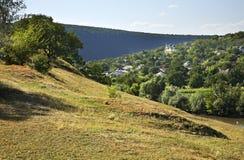 Landschap dichtbij dorp Trebujeni moldova stock afbeeldingen