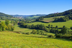 Landschap dichtbij flavigny-sur-Ozerain in Bourgondië Stock Foto's