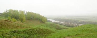 Landschap dichtbij Gorokhovets, Rusland Stock Foto