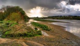 Landschap dichtbij Lima rivier Stock Afbeelding