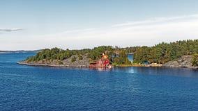 Landschap dichtbij Nynashamn Stock Foto's