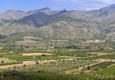 Landschap dichtbij Orba, Spanje Stock Foto's