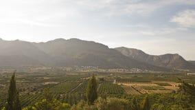 Landschap dichtbij Orba, Spanje Royalty-vrije Stock Fotografie