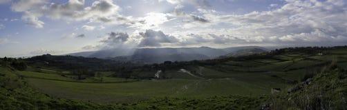 Landschap dichtbij Sortino in Sicilië Stock Foto