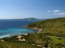 Landschap dichtbij Villasimius, Sardinige, Italië Stock Foto