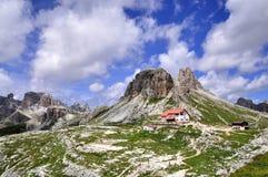 Landschap Dolomity - Torre Di Toblin Royalty-vrije Stock Foto