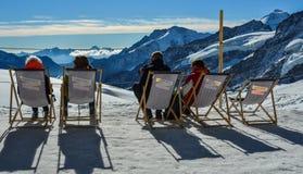 Landschap en aard van Onderstel Jungfrau stock fotografie