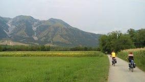 Landschap en fietsen Stock Afbeeldingen