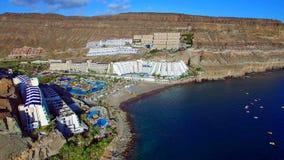 Landschap en mening van mooi Gran Canaria bij Canarische Eilanden, Spanje royalty-vrije stock afbeeldingen