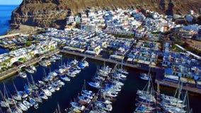 Landschap en mening van mooi Gran Canaria bij Canarische Eilanden, Spanje stock afbeeldingen