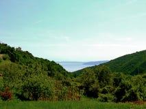 Landschap en seaview Stock Fotografie