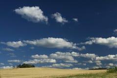 Landschap en wolken Stock Afbeelding